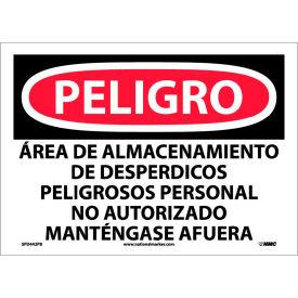 Spanish Vinyl Sign - Peligro Area De Almacenamiento De Despedicios Peligrosos