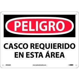 Spanish Aluminum Sign - Peligro Casco Requerido En Esta Area