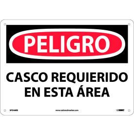 Spanish Plastic Sign - Peligro Casco Requerido En Esta Area