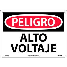 Spanish Plastic Sign - Peligro Alto Voltaje