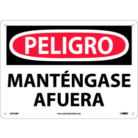 Spanish Plastic Sign - Peligro Manténgase Afuera
