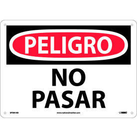 Spanish Aluminum Sign - Peligro No Pasar