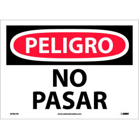 Spanish Vinyl Sign - Peligro No Pasar