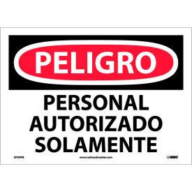 Spanish Vinyl Sign - Peligro Personal Autorizado Solamente
