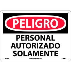 Spanish Plastic Sign - Peligro Personal Autorizado Solamente