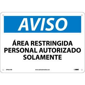 Spanish Plastic Sign - Aviso Area Restringida Personal Autorizado Solamente