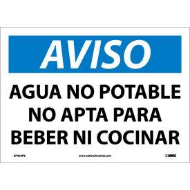 Spanish Vinyl Sign - Aviso Agua No Potable No Apta Para Beber Ni Cocinar
