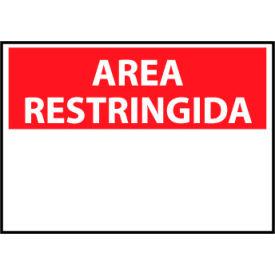 Restricted Area Vinyl - Spanish - Area Restringida Blank with Header Only