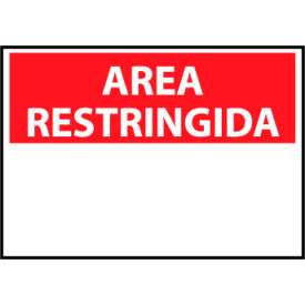 Restricted Area Plastic - Spanish - Area Restringida Blank with Header Only