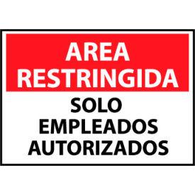 Restricted Area Plastic - Spanish - Solo Empleados Autorizados