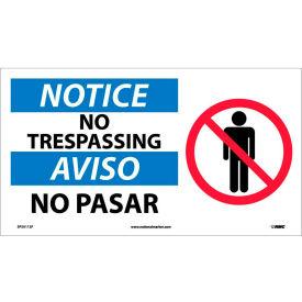 Bilingual Vinyl Sign - Notice No Trespassing