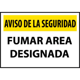 Security Notice Aluminum - Fumar Area Designada