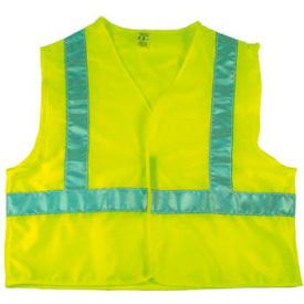 NMC SV7 Safety Vest, Lime with Silver Stripes, Size XL