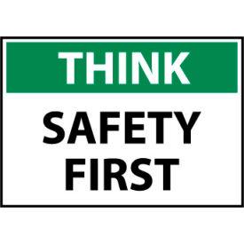 Think Osha 10x14 Rigid Plastic - Safety First