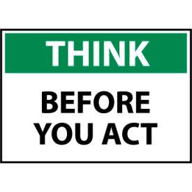 Think Osha 7x10 Plastic - Before You Act