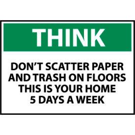 Think Osha 10x14 Vinyl - Don't Scatter Paper