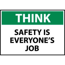 Think Osha 10x14 Plastic - Safety Is Everyone's Job
