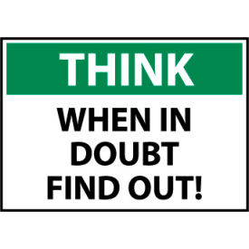Think Osha 7x10 Vinyl - When In Doubt Find Out