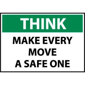 Think Osha 10x14 Plastic - Make Every Move A Safe One