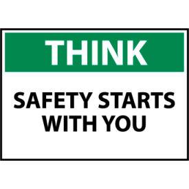 Think Osha 10x14 Plastic - Safety Starts With You