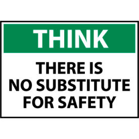 Think Osha 10x14 Plastic - There Is No Substitute for Safety