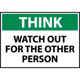 Think Osha 10x14 Aluminum - Watch Out
