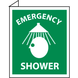 Facility Flange Sign - Emergency Shower