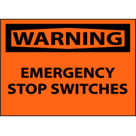 Machine Labels - Warning Emergency Stop Switches