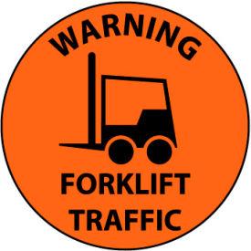 Walk On Floor Sign - Warning Forklift Traffic
