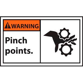 Graphic Machine Labels - Warning Pinch Points