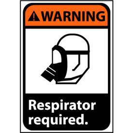 Warning Sign 10x7 Rigid Plastic - Respirator Required