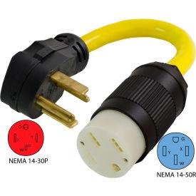 Conntek EV1430T NEMA 14-30P to NEMA 14-50R Electric Vehicle Pigtail Adapter Cord