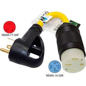Conntek EV15153T NEMA TT-30P to NEMA 14-50R Electric Vehicle Pigtail Adapter Cord