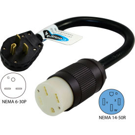 Conntek EV630T NEMA 6-30P to NEMA 14-50R Electric Vehicle Pigtail Adapter Cord