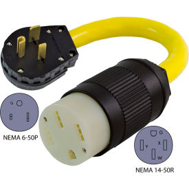 Conntek EV650T NEMA 6-50P to NEMA 14-50R Electric Vehicle Pigtail Adapter Cord