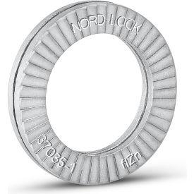"Nord-Lock 1523 Wedge Locking Washer - Carbon Steel - Zinc Flake Coated - M8 (5/16"") - Pkg of 20"