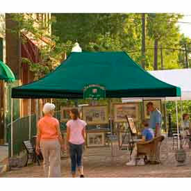 10x15 Straight Leg Pop Up Canopy - Green Cover