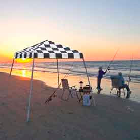 8x8 Slant Leg Pop Up Canopy - Checkered Flag Cover