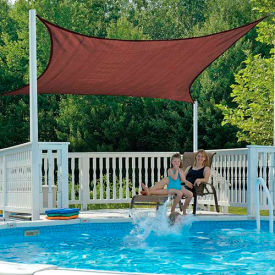 ShelterLogic 25672 Square Sun Shade Sail, 12'L, Terracotta