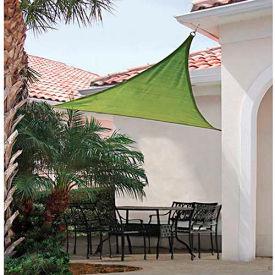 ShelterLogic, 25675, ShadeLogic Sun Shade Sail Heavy Weight Triangle 16 ft. x 16 ft. Lime Green