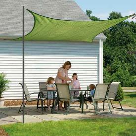 ShelterLogic 25677 Square Sun Shade Sail, 16'L, Celery