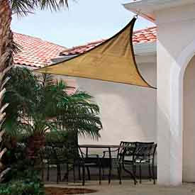 16 Foot Triangle ShadeSail - Sand