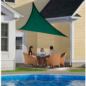 ShelterLogic, 25724, ShadeLogic Sun Shade Sail Heavy Weight Triangle 12 ft. x 12 ft. Evergreen
