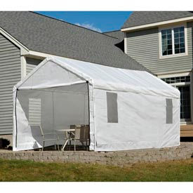 "10x20 Canopy Enclosure Kit - White w/Windows for 1-3/8"" Frame"