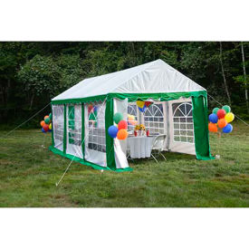 ShelterLogic, 25899, Enclosure Kit with Windows for Party Tent 9-11/16 ft. x 19-5/8 ft, Green/White