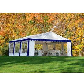 ShelterLogic, 25921, Party Tent & Enclosure Kit 9-11/16 ft x 9-11/16 ft , Blue/White