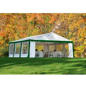 ShelterLogic, 25922, Party Tent & Enclosure Kit 9-11/16 ft x 9-11/16 ft , Green/White