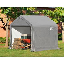 ShelterLogic, Shed-in-a-box, Canopy Storage Shed 6'L x 6'W x 6'H, Gray