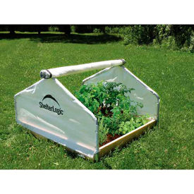 ShelterLogic, 70619, GrowIt Backyard Raised Bed Greenhouse- Peak Style 4 ft. x 4 ft. x 2-5/16 ft.