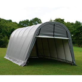 12x20x8 Round Style Shelter - Grey